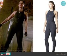 Isabelle's black zip-front jumpsuit on Shadowhunters. Outfit Details: https://wornontv.net/65262/ #Shadowhunters