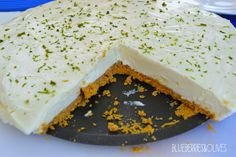 Ginger and lime cheesecake. #cheesecake #weekend #summerydessert  Cheesecake de lima y jengibre. #tartadequeso #findesemana #postreveraniego Visit my blog to find the recipe: Visita mi blog para encontrar la receta: http://blueberriesandolives.com/2015/08/14/cheesecake-de-lima-y-jengibre-lime-and-ginger-cheesecake/
