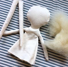 My Journey in Doll-Making: A New and Incredible Challenge — Phoebe&Egg Making my own Jess Brown Rag Doll Diy Rag Dolls, Sewing Dolls, Diy Doll, Newborn Baby Dolls, Doll Tutorial, New Dolls, Handmade Toys, Handmade Rag Dolls, Handmade Dolls Patterns