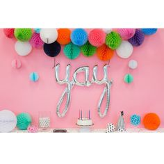 Engagement Party Decoration // Yay Balloon // Letter Balloon Banner // Bachelorette Party // Photobooth Backdrop // Bridal Shower Decor