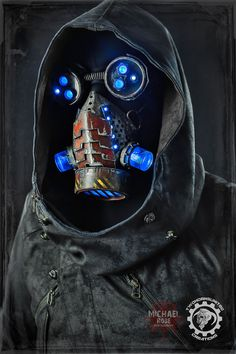 Dissonance - Cyberpunk LED mask. by TwoHornsUnited.deviantart.com on @DeviantArt