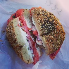 Lox & cream cheese from Ess-a-bagel!