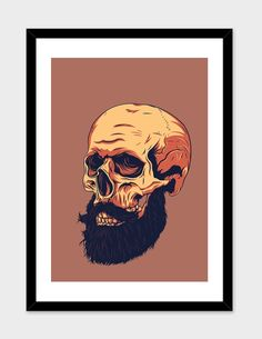 """""""Mr. Skull"""", Numbered Edition Fine Art Print by Roland Banrevi - From $25.00 - Curioos"""