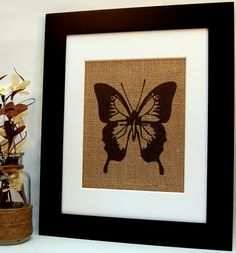 Hey, I found this really awesome Etsy listing at https://www.etsy.com/listing/187688097/butterfly-on-burlap-sign-burlap-print
