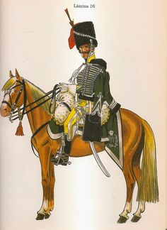 Spanish; Fernando VII's Hussars, Officer, 1813