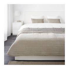 IKEA - PENNINGBLAD, Tagesdecke+2 Kissenbezüge, , Baumwollsamt ist angenehm auf der Haut, seidig glänzend und weich.Tagesdecke mit…