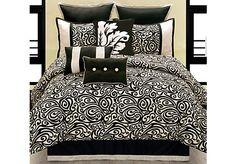 Shop for a Carrie 9 Pc Queen Comforter Set at Rooms To Go. Find Queen Linens that will look great in your home and complement the rest of your furniture.
