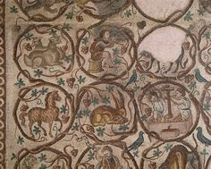 Mosaics from the Church of St. Christopher in Qabr Hiram