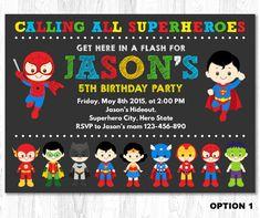 Hey, I found this really awesome Etsy listing at https://www.etsy.com/ca/listing/217936705/superhero-birthday-invitation-superhero