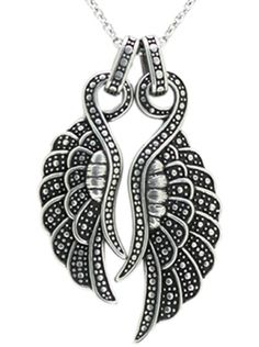 """""""Angelique Couple Wings"""" Necklace by Controse (Silver)"""