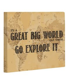 Take a look at this 'Great Big World' Map Canvas by OneBellaCasa on #zulily today!  For the dorm room