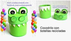 Manualidades dulcero cocodrilo reciclaje   Aprender manualidades es facilisimo.com