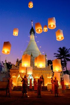Lantern Festival, Thailand photo via mervi