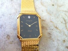 Antique awesome fancy lug art deco mens longines wittnauer 14k vintage mens watch wittnauer by longines black dial rectangular watch for reparis gold vintage mens watches sciox Choice Image