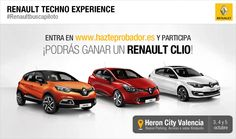 Hazte probador #RenaultBuscaPiloto http://bit.ly/1uDrQDn  este fin de semana en #valencia puedes ganar un Renault Clio