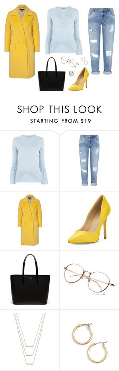 """Untitled #1143"" by alex-gucka ❤ liked on Polyvore featuring Topshop, Miss Selfridge, ESCADA, Charles by Charles David, Lacoste, ERTH, Nordstrom and Del Gatto"