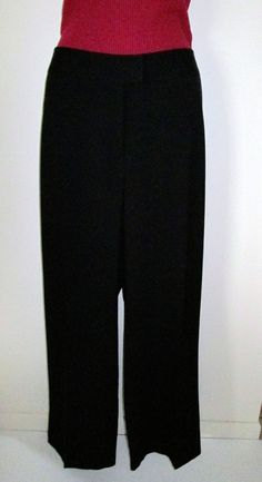 Sag Harbor Stretch Woman Size 16W Black Pants Dressy Career #SagHarbor #DressPants at dinkerson72 on eBay