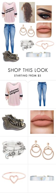 """""""Jack Grazer's girlfriend"""" by hailey-renee-bly ❤ liked on Polyvore featuring Wildfox, City Chic, Converse, Alex and Ani, Love Is and Accessorize"""