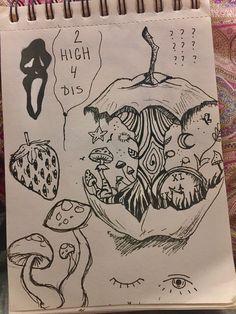 Indie Drawings, Cool Art Drawings, Art Drawings Sketches, Arte Indie, Indie Art, Hippie Painting, Grunge Art, Arte Sketchbook, Art Diary