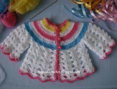 Magia do Crochet: Casaco em crochet para bébé - como fazer