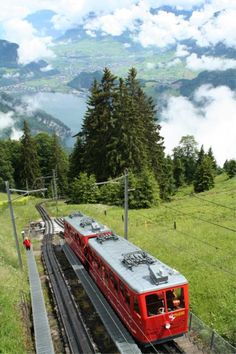 World's Steepest Cog Railway on Mount Pilatus ~ Lucerne, Switzerland
