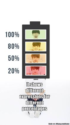 *Show Battery Percentage* | allkpop Meme Center