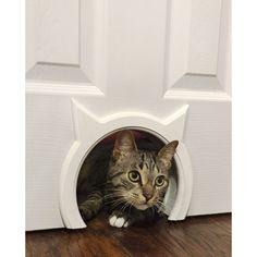 Cat door hidden litter box gifts for cat lovers