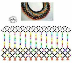 Diy Necklace Patterns, Bead Loom Patterns, Beaded Jewelry Patterns, Bead Embroidery Jewelry, Beading Patterns, Seed Bead Jewelry, Bead Jewellery, Seed Bead Projects, Fabric Origami