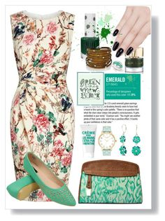 """""""Green Is The New Black"""" by jay-sigala ❤ liked on Polyvore featuring beauty, Lipsy, Garance Doré, Napier, Smith & Cult, Topshop, ncLA, Kate Spade and Sif Jakobs Jewellery"""