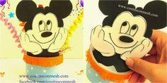 Te ayudamos a preparar la fiesta de tu peque con este tutorial para hacer dulceros de Mickey. ¡Les encantará!