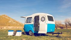 New camper with a vintage look outside and a genious inside, by Happier Camper