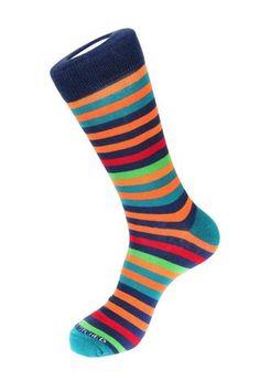 7 Color Stripe Sock, Blue Socks, Blue Unsimply Stitched Socks Blue Socks, Striped Socks, Happy Socks, 2 Ply, Color Stripes, Footwear, Nordstrom, Mens Fashion, Heels