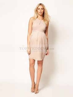 42fa40d0 Round Neck Chiffon Short Maternity Dress ...for any of my bridesmaids who  will