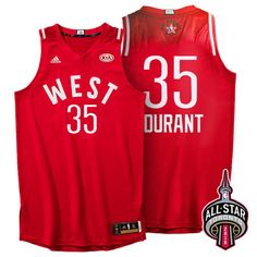 88a9c1a18958 2016 All Star Western Conference  35 Durant Red Jersey Chris Paul Jersey
