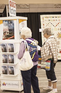 Best-selling quilt fiction available in the AQS Booth during QuiltWeek®