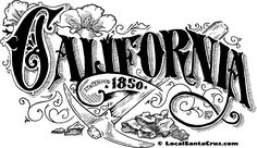 California Victorian inspired type treatment by artist Julie Rawls. Type Treatments, Typography, Lettering, Calligraphy Letters, California, Illustration, Artist, Table, Inspiration