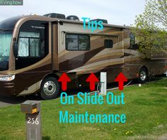 RV slide outs add space to your home on the road. Be sure to use these tips to make sure your slides stay in tip top condition. And to make sure that you are doing the proper care for your slide out, RV Education 101 has prepared a video on slide out maintenance, check it