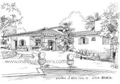 Arquitetura e Desenho: 50º Sketchcrawl - Desenho de observação de uma residência