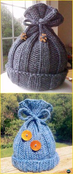 Rib-Knit Baby Hat Free Pattern - Knit Beanie Hat Free Patterns #knittingpatternsbaby