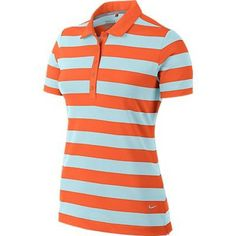 You've gotta have one of Nike's Bold Stripe Golf Shirt! It's a Button Placket Polo with yarn dye stripe and self collar. Golf Attire, Golf Outfit, Wilson Golf Clubs, Golf Putters, Golf Shop, Golf Irons, Pink Nikes, Bold Stripes, Nike Golf