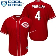 youth authentic alternate red cincinnati reds brandon phillips jersey cool base mlb majestic