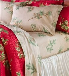 King Peaceful Pine Cotton Flannel Sheet Set