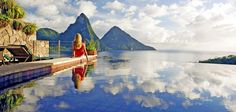 The Knot's 21 Best Honeymoon Packages and All-Inclusive Resorts: Jade Mountain - St Lucia's Most Romantic Luxury Resort