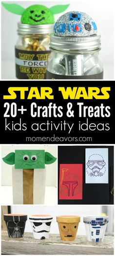 20+ Star Wars Crafts & Treats - perfect kids activity ideas for little Star Wars fans (great  Star Wars birthday party ideas too)!
