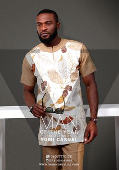 Get your festive mood on as Nigerian fashion brand, Yomi Casual unveils his latest collection titled 'Man of the Year' just in time for the holidays. The collection offers a wide range of comfortab… African Attire For Men, African Dresses For Women, African Men Fashion, Africa Fashion, African Wear, African Women, Mens Fashion, Nigerian Fashion, Fashion Brand