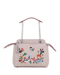 7cdc150d73dc Fendi Dotcom Click Embroidered Shoulder Bag