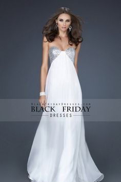 2013 Prom Dresses A Line Floor Length Sweetheart Empire Waist Chiffon