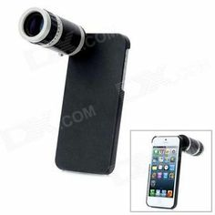 Zoom Telescope Lens with Protective Back Case for iPhone 5 - Black + Silver Telescope, Digital Camera, Baby Items, Black Silver, Cell Phone Accessories, Coupons, Lens, Iphone Cases, Electronics