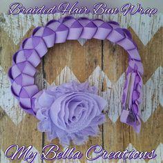 Bollo de pelo trenzado envolver en lavanda y púrpura