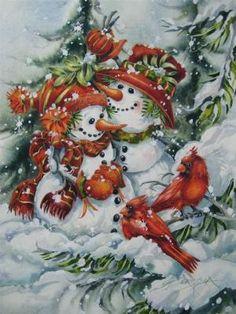 Snowmen and cardinals